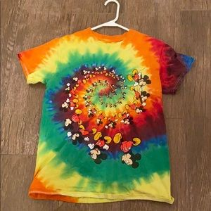 Disney Rainbow Tie-Dye Mickey Mouse T-Shirt
